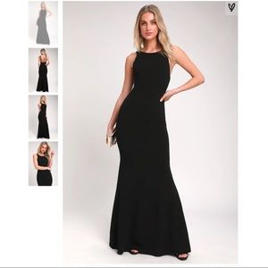 Dream About You Black Backless Maxi Dress